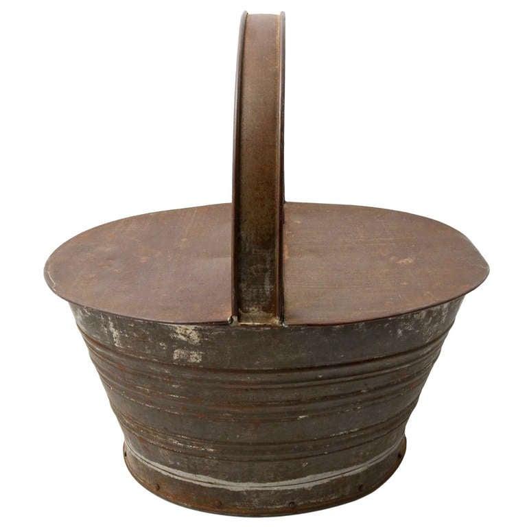 Homemade Tin Basket