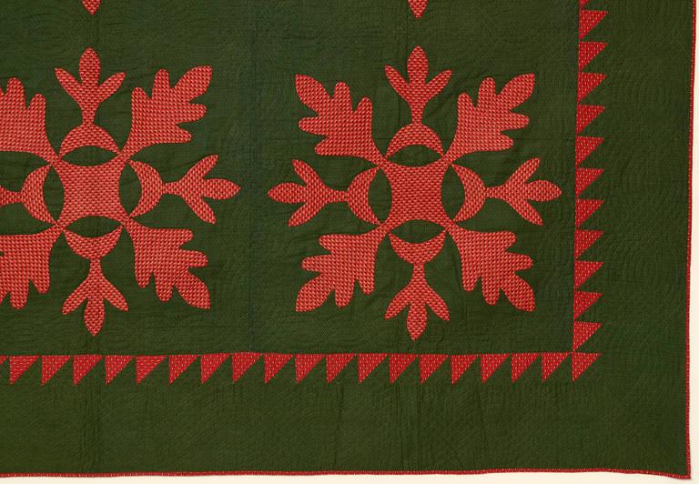 Oak Leaf Quilt At 1stdibs