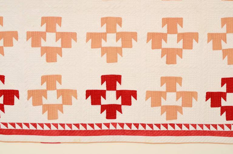 T Pattern Quilt, circa 1880 2