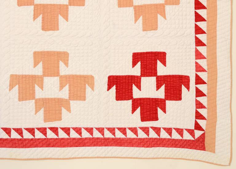 T Pattern Quilt, circa 1880 3