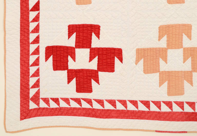 T Pattern Quilt, circa 1880 4