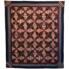 Windmill Blades Log Cabin Quilt