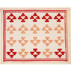 T Pattern Quilt, circa 1880