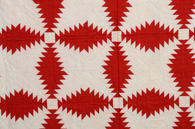 Windmill Blades Quilt In Excellent Condition For Sale In Darnestown, MD