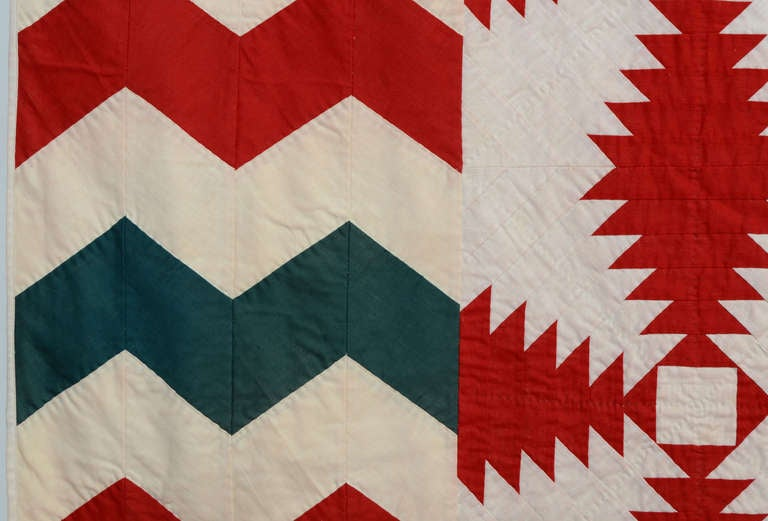 19th Century Windmill Blades Quilt For Sale