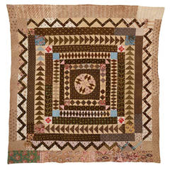 Mariner's Compass, Center Medallion Quilt