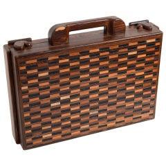 Don Shoemaker Wood Briefcase