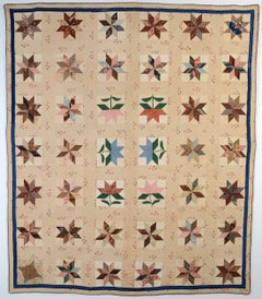 LeMoyne Stars and Maple Leaves Quilt