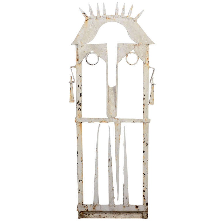 Folk Art Gate in form of a Face