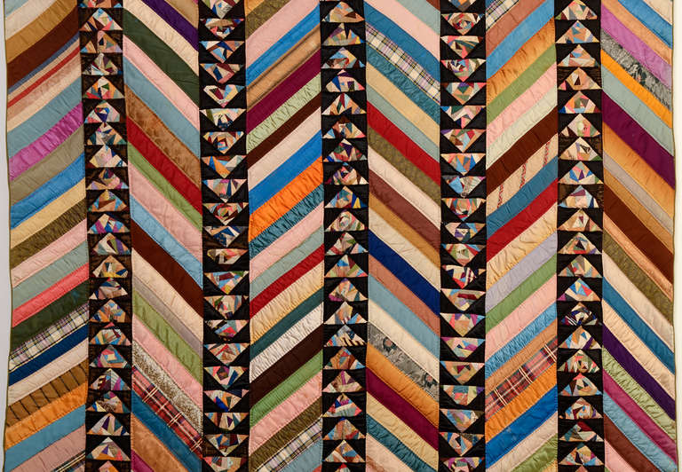 Chevrons and Wild Goose Chase Quilt 3