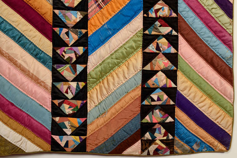 Chevrons and Wild Goose Chase Quilt 5