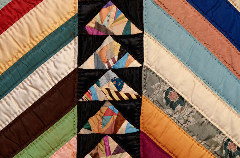 Chevrons and Wild Goose Chase Quilt 6