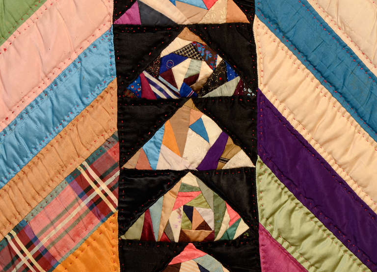 Chevrons and Wild Goose Chase Quilt 7