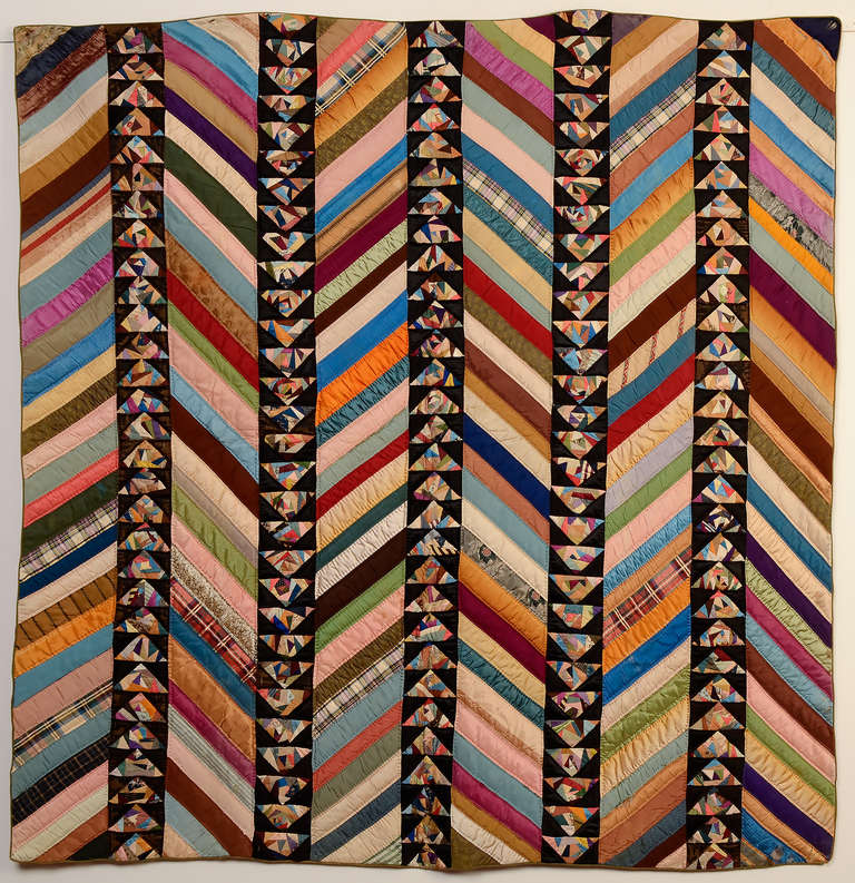 Chevrons and Wild Goose Chase Quilt 2