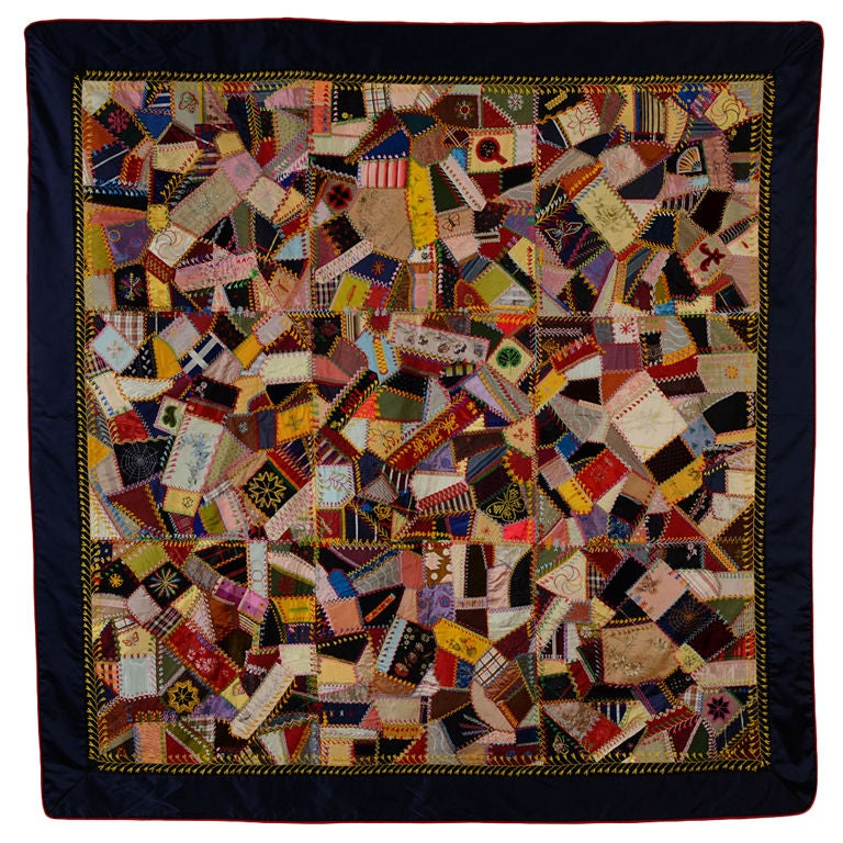 Victorian crazy quilt at stdibs