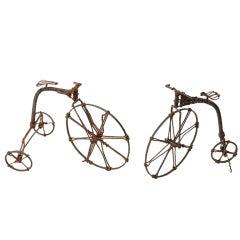 Wire Bicycle Sculptures