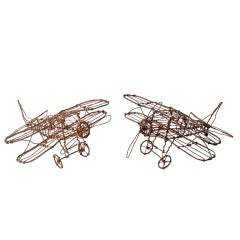 Wire Airplane Sculptures