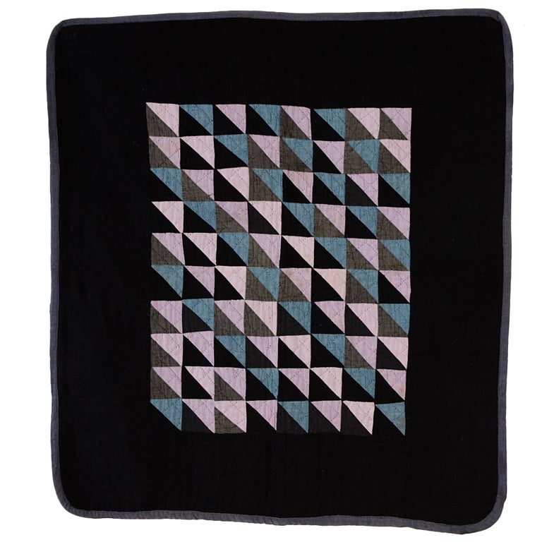Thousand Pyramids Amish Crib Quilt