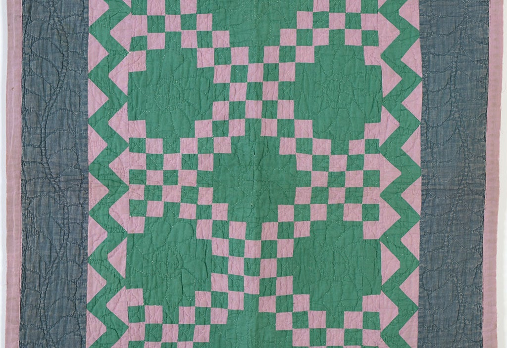 American Irish Chain Crib Quilt - Ohio Amish For Sale