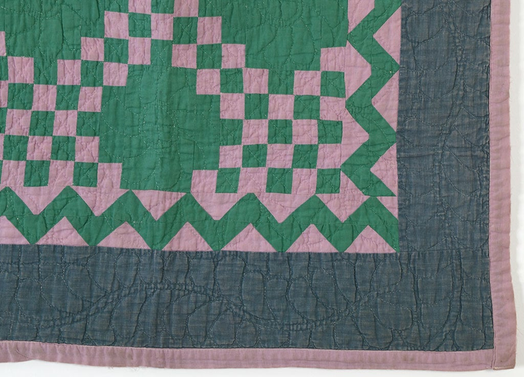 20th Century Irish Chain Crib Quilt - Ohio Amish For Sale