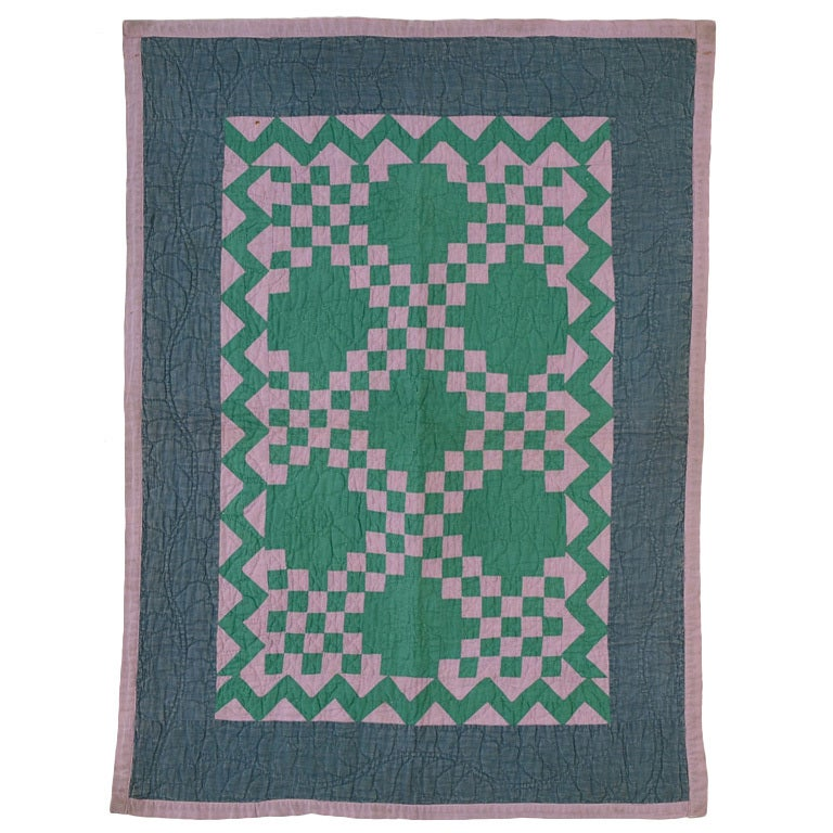 Irish Chain Crib Quilt - Ohio Amish For Sale