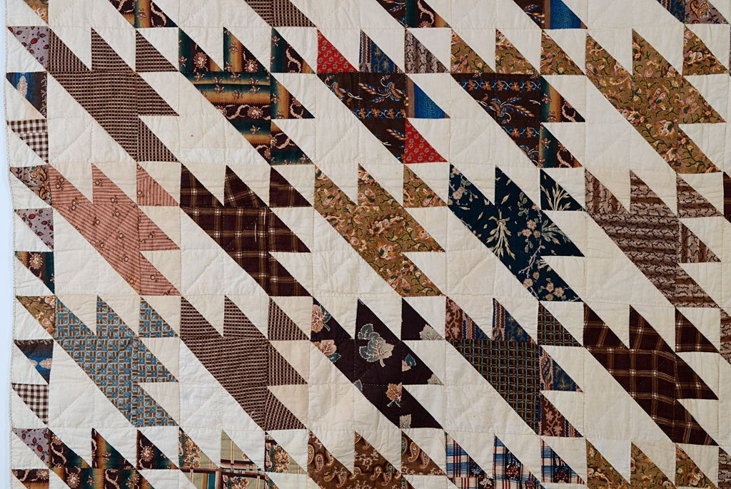 19th Century Sawtooth Quilt