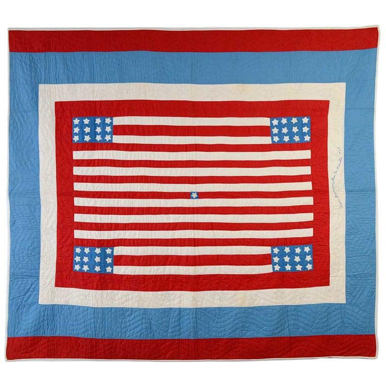 Patriotic Quilt At 1stdibs