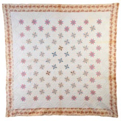 LeMoyne Stars Quilt with Trapunto