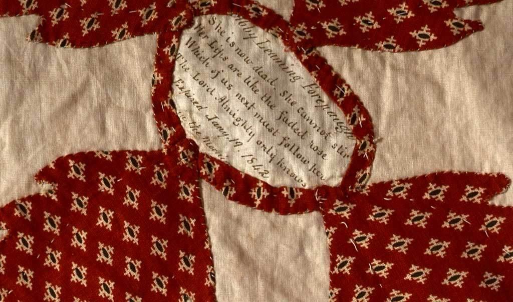 Center Medallion Mourning Quilt 10