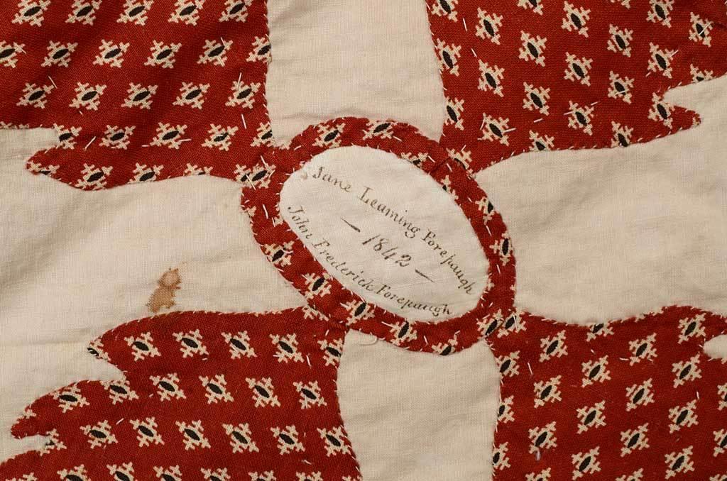 Center Medallion Mourning Quilt 8