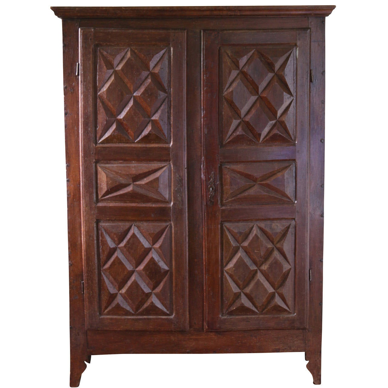 original louis xiii style two door armoire cabinet french. Black Bedroom Furniture Sets. Home Design Ideas