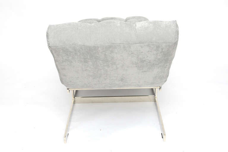 Milo baughman chaise lounge at 1stdibs for Art nouveau chaise lounge