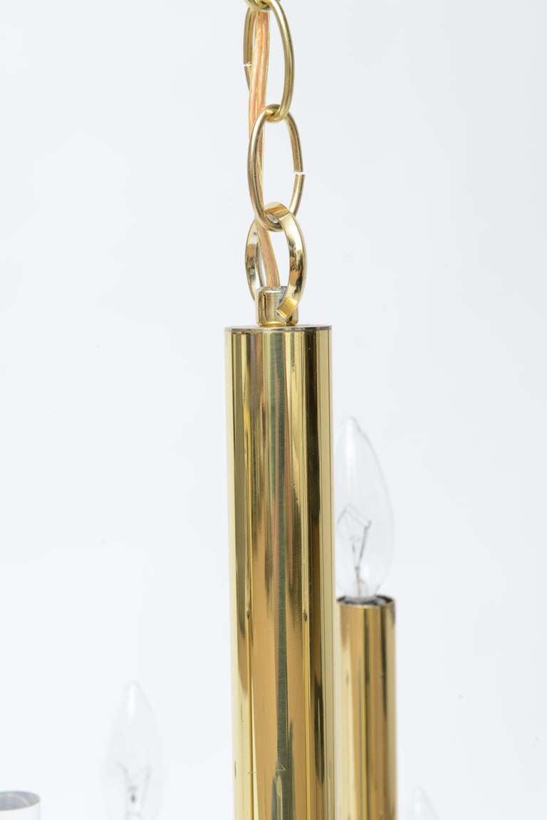 Gaetano Sciolari Large Brass & Lucite Constructivist Chandelier 7