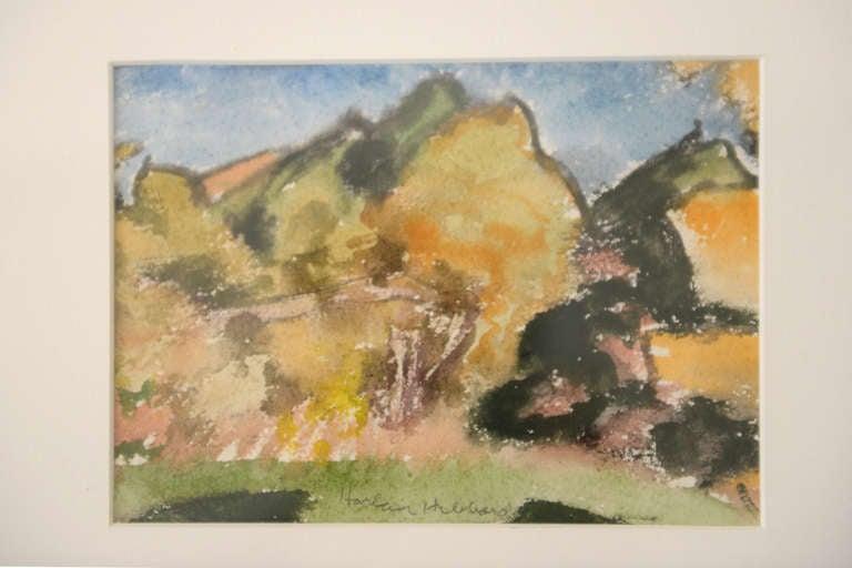 watercolor on paper harlan hubbard at 1stdibs