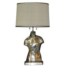 Metal Torso Lamp