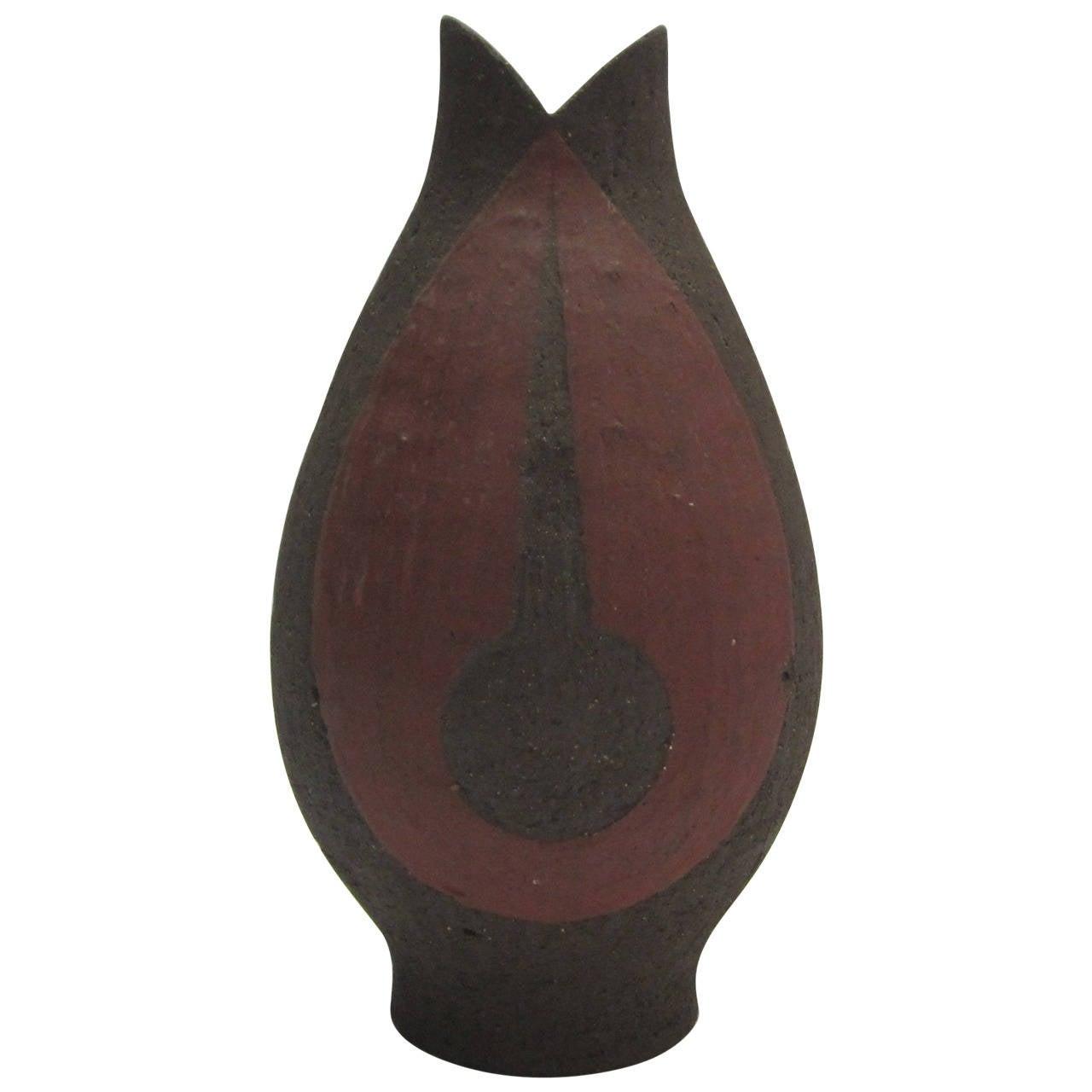 Danish Textured Ceramic Vase