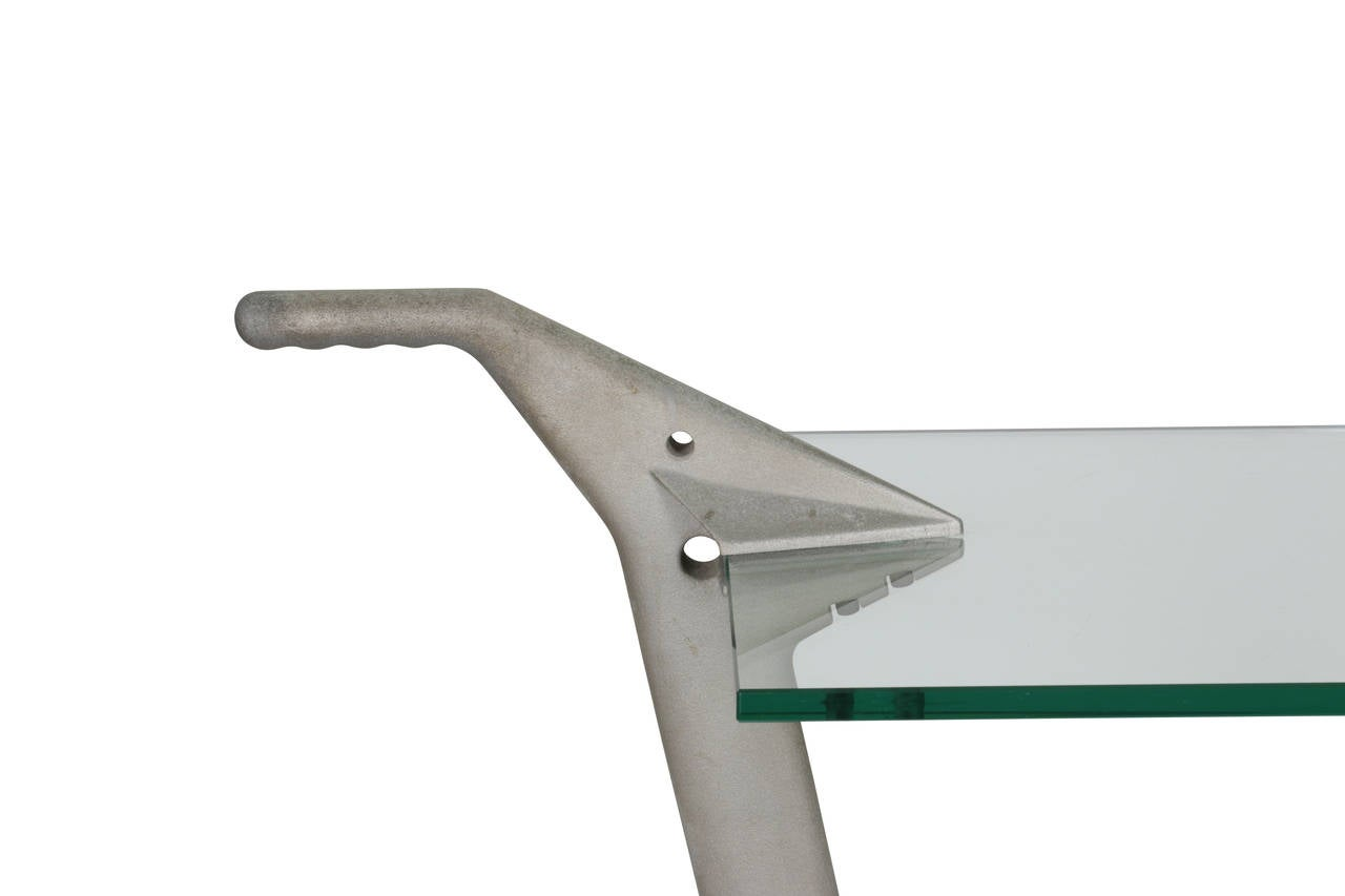 Fontana Arte Two-Tier Rolling Table In Good Condition For Sale In Miami, FL