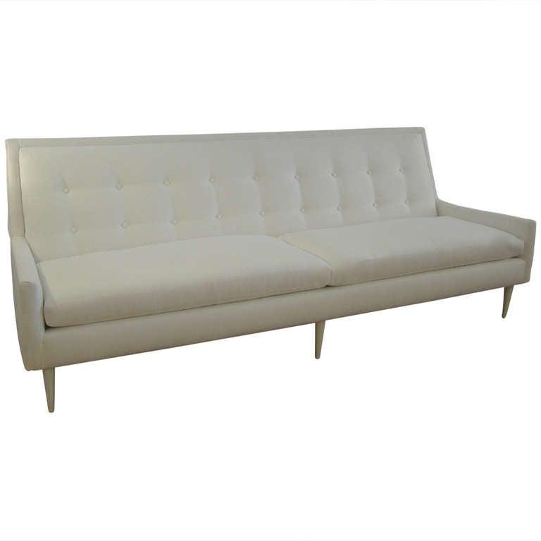 1950s Flared Arm Sofa At 1stdibs