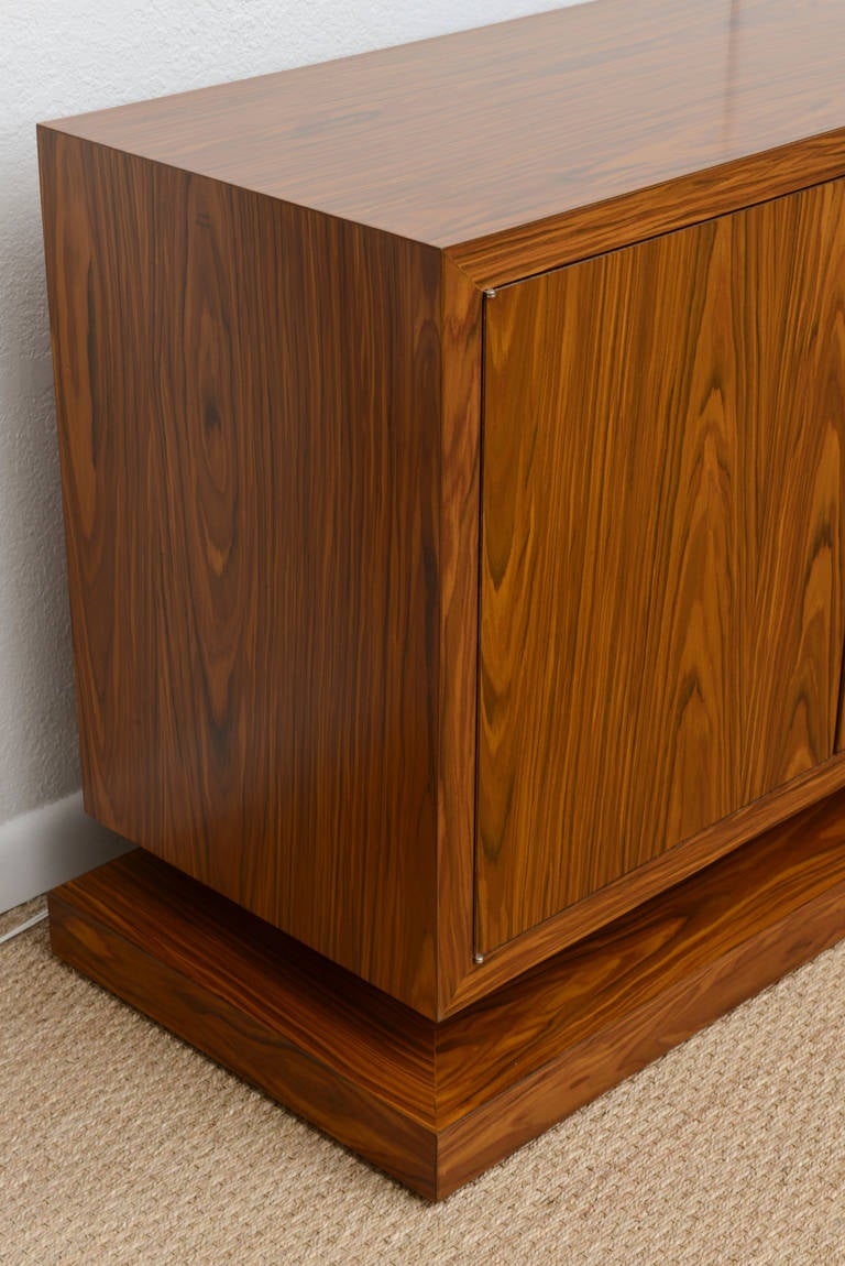 Exceptional long six door raised cabinet on plinth at