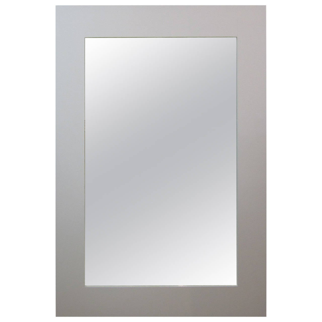 Eight foot floor standing mirror with white lacquered for Floor mirror white frame