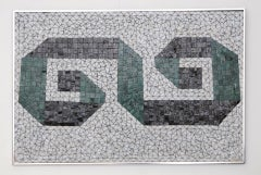 Glass Mosaic Tile Wall Plaque or Table Top by Charles Berg image 2