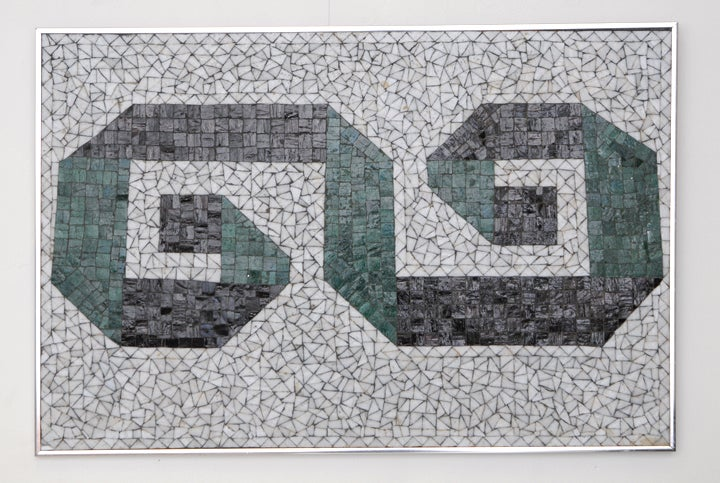 Glass Mosaic Tile Wall Plaque or Table Top by Charles Berg 2