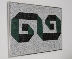Glass Mosaic Tile Wall Plaque or Table Top by Charles Berg image 3