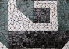 Glass Mosaic Tile Wall Plaque or Table Top by Charles Berg image 6