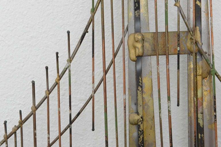 mixed metal wall mount golden gate bridge sculpture by c jere signed for sale at 1stdibs. Black Bedroom Furniture Sets. Home Design Ideas