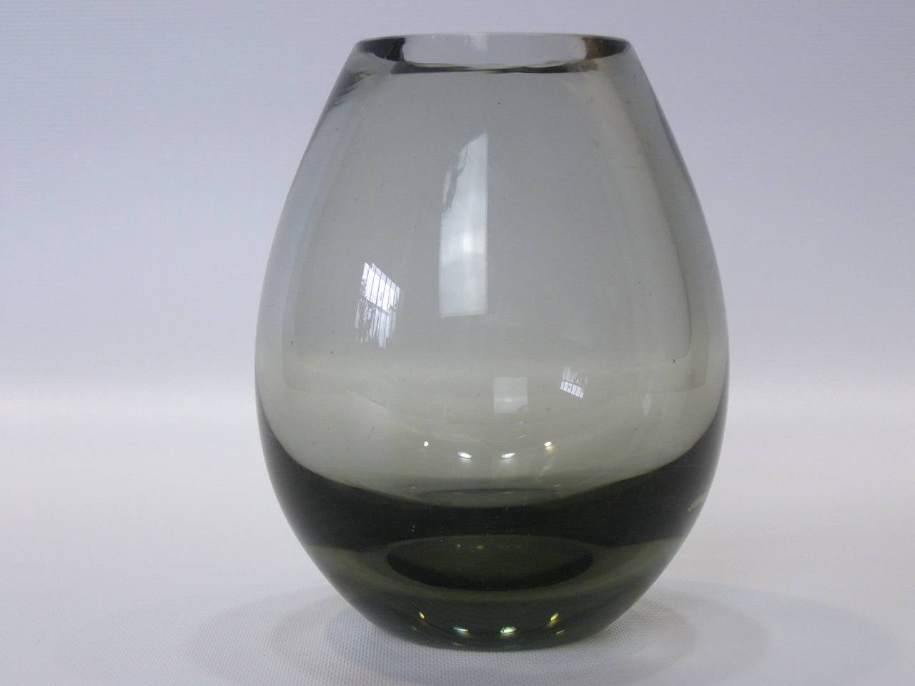 Per lutken for holmegaard teardrop smoked glass vase for sale at beautiful smoked blown glass teardrop vase with flat top for holmegaard signed and numbered on reviewsmspy