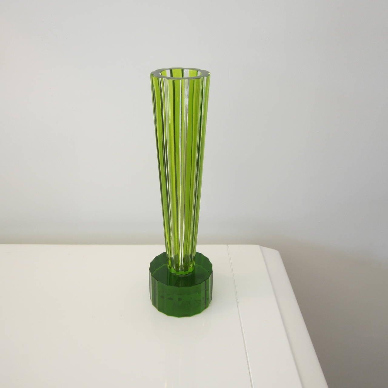 Ettore Sottsass Crystal Trumpet Vase for Baccarat Signed For Sale ... for Ettore Sottsass Shiva Vase  53kxo