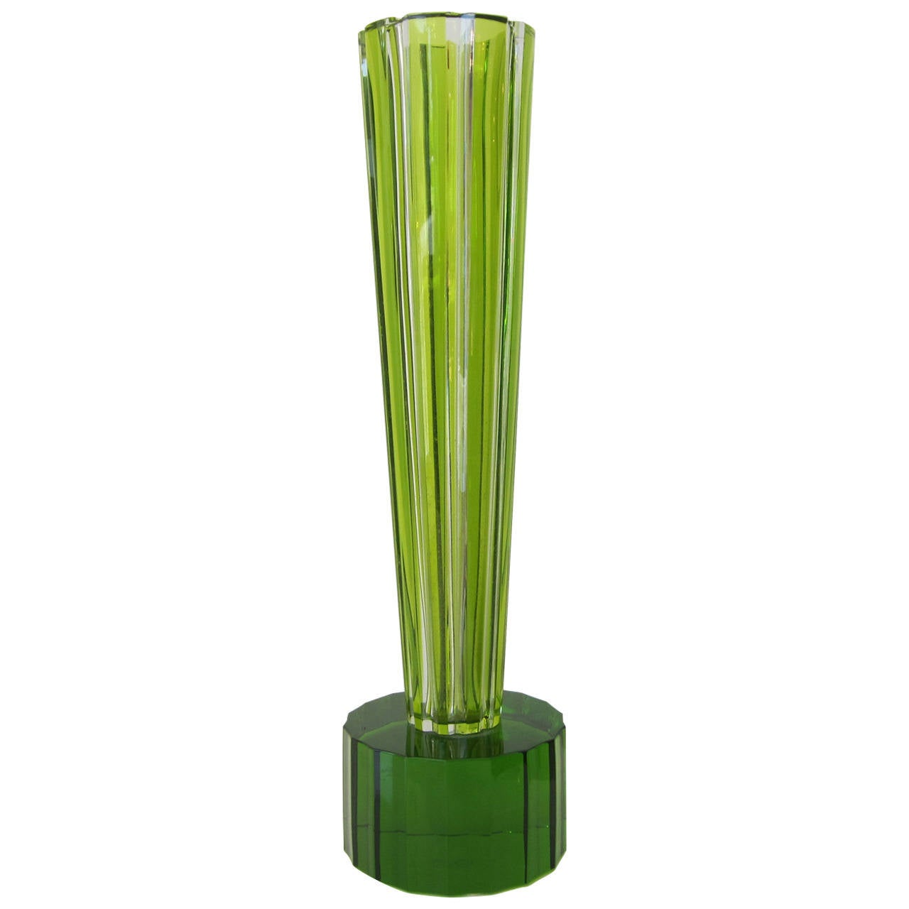Ettore Sottsass Crystal Trumpet Vase for Baccarat Signed For Sale ... for Ettore Sottsass Shiva Vase  56mzq