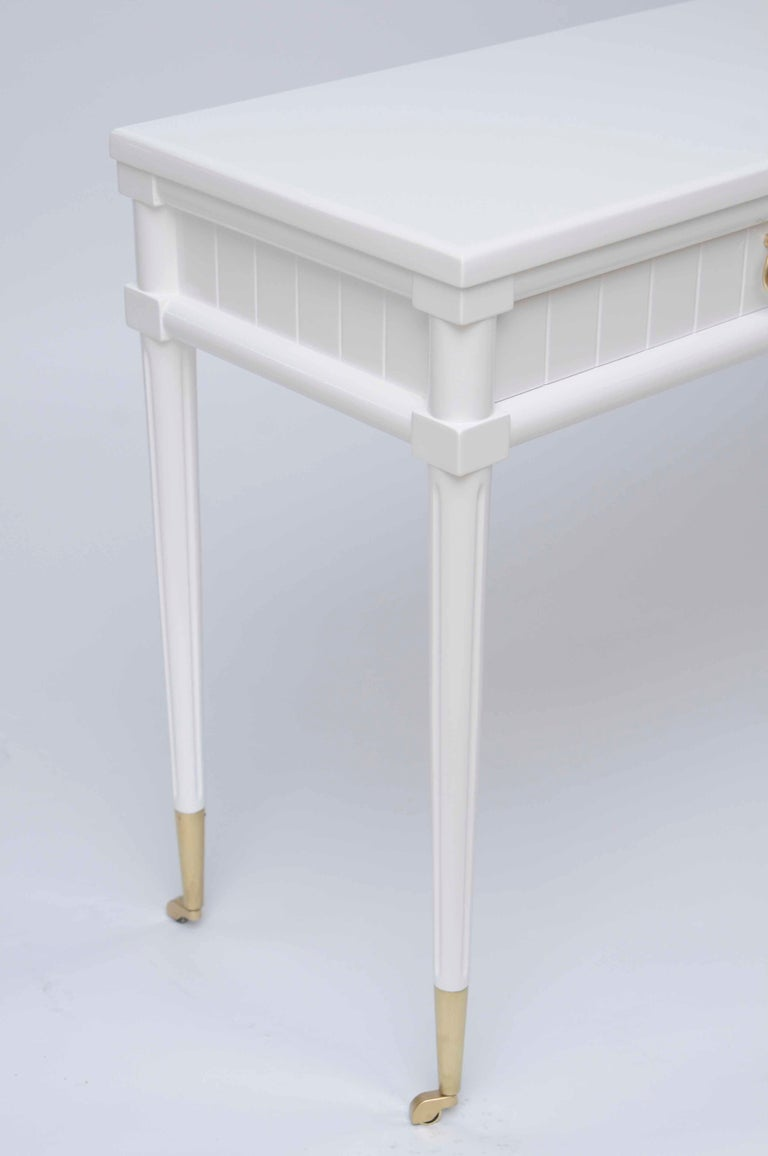 Console Table with Pull out Drinks Tables image 7