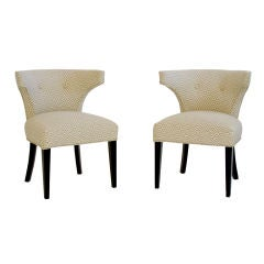 Pair of Rounded Klismos Chairs Manner of Tommi Parzinger
